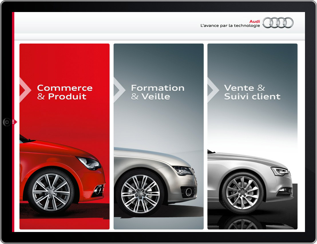 Audi pro mobile iPad application