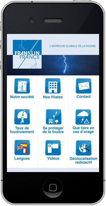 Franklin iPhone application capture menu
