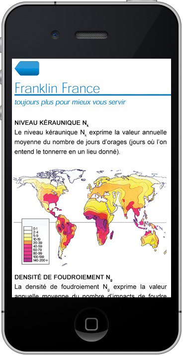 capture carte foudre franklin application iphone