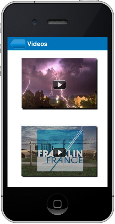 Franklin iPhone application video captures