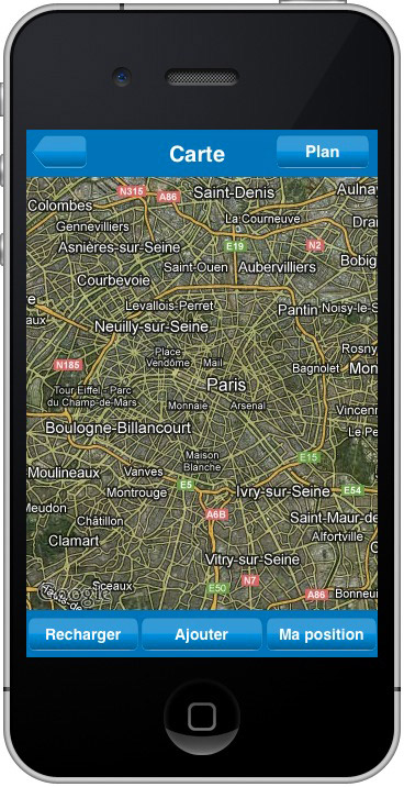 Franklin application iPhone gps capture