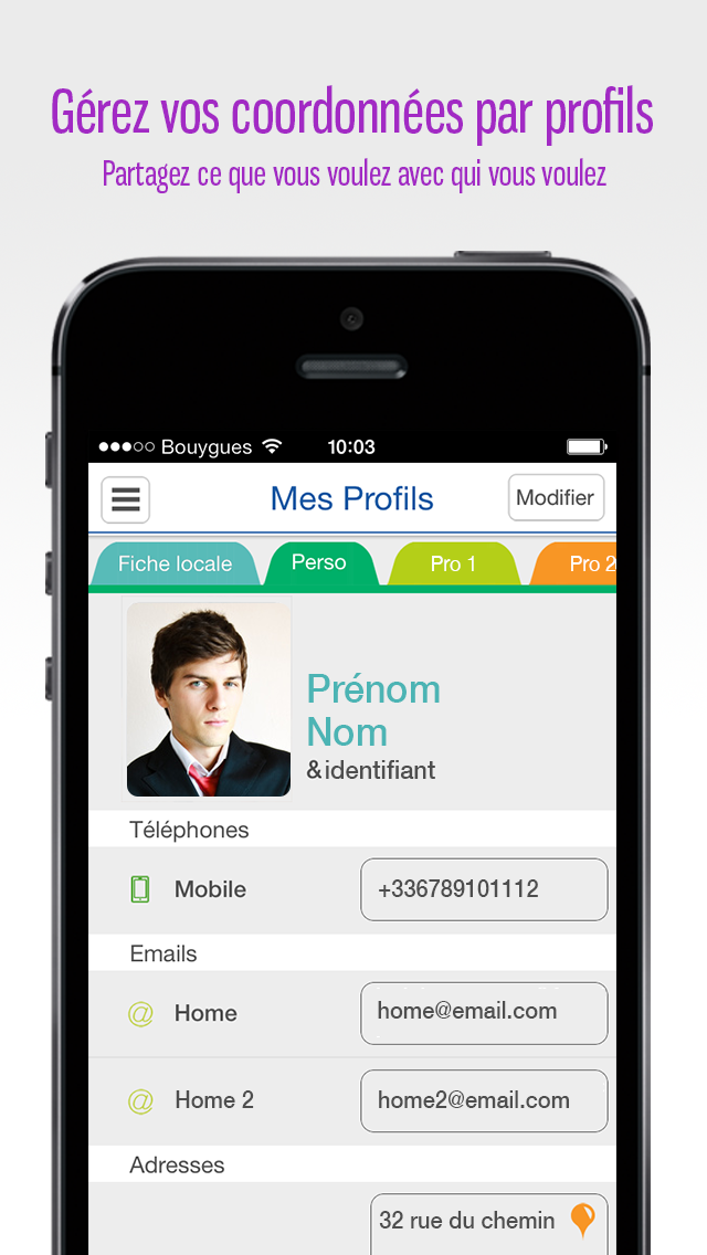 Preezm Address Book Application for iPhone and Android