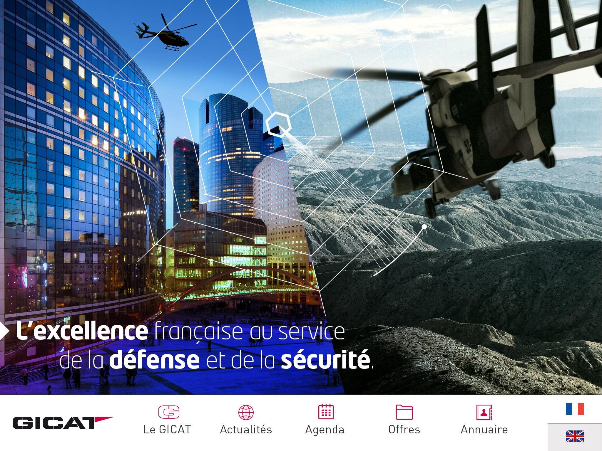 Application iPad iPhone Gicat Groupement des Industries Françaises de Défense Terrestre et Aéroterrestre