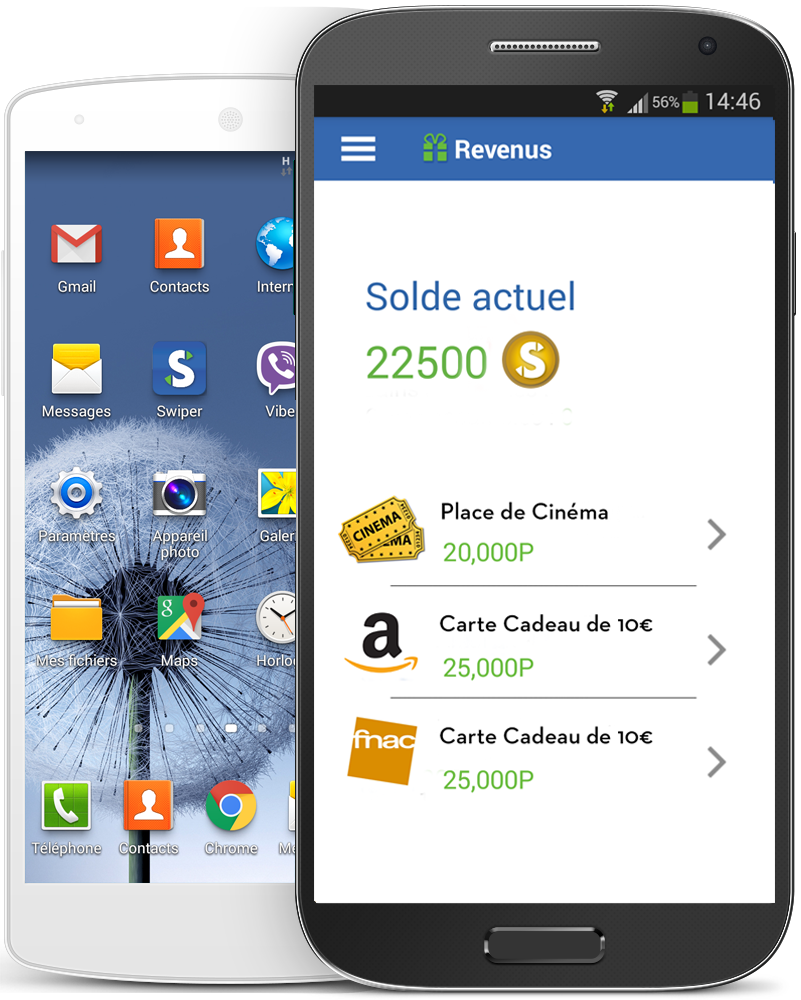 Application android swiper publicité sur votre écran de verrouillage