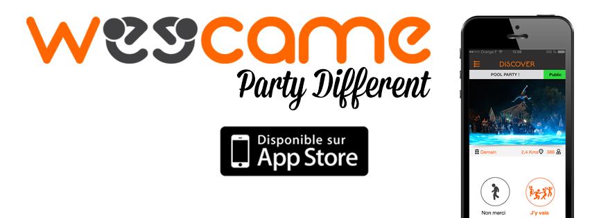 Application iPhone Weecame pour trouver et organiser des soirées