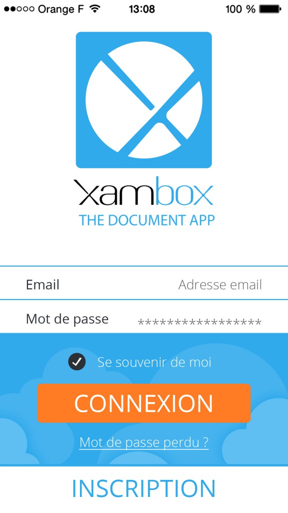 application iphone xambox coffre fort